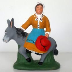 Santon La vieille sur l'âne...