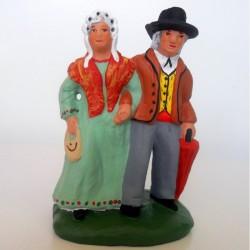 Santon Le Couple de Vieux 7 cm