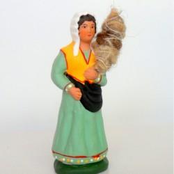 Santon Femme Fileuse 7cm